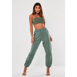 MISSGUIDED GREEN JOGGERS